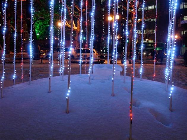 White illuminations in Odori Park